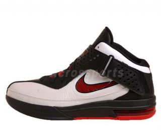 Nike Air Max Soldier V White Red Black LeBron James Basketball Shoes