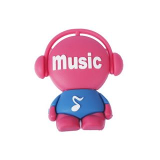Cartoon Music Boy Rubber 2GB/4GB/8GB/16GB USB Flash Pen Drive Memory