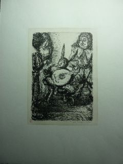 PAUL WEBER   Original Lithographie Lob der Damen
