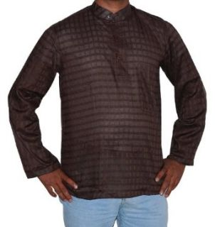 Indian Casual Cotton Wear Short Mens Kurta Shirt with