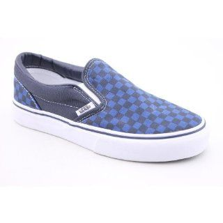 Slip On Youth Kids Boys Size 1 Blue Textile Loafers Shoes Shoes