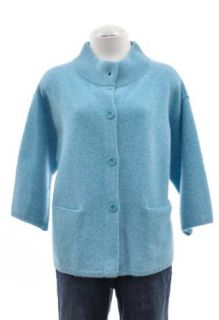 Eileen Fisher Aqua Blue Felted Lambs wool Cashmere Stand