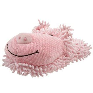 Fuzzy Friends Womens Pig Slipper,Pink,One Size Shoes