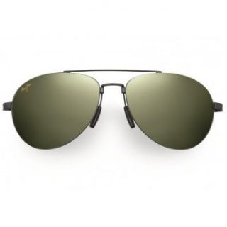 Maui Jim HT210 02 Gunmetal Black Pilot Aviator Sunglasses