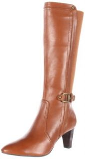 AK Anne Klein Womens Gaelyn Leather Boot Shoes