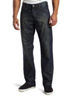 Calvin Klein Mens Relaxed Straight Leg Jean, Dark Wash