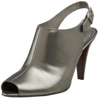 Womens Palmira Open Toe Slingback,Dark Pewter Leather,5 M US Shoes