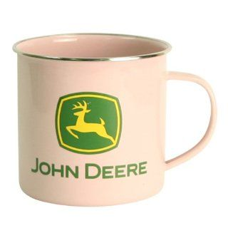 John Deere Ceramic Classic Coffee Mug   Pink Sports
