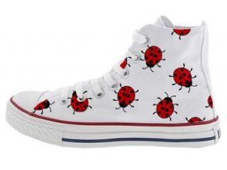 Chuck Taylor All Star Hi Top Hand Painted Lady Bugs M7650LB Shoes