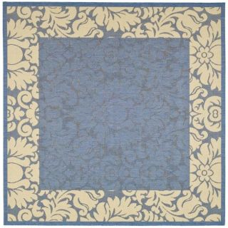 Indoor/ Outdoor Kaii Blue/ Natural Rug (710 Square)