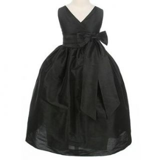 Sweet Kids Girls Black Bow Flower Girl Special Occasion