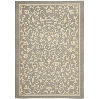 Grey/ Natural Indoor Outdoor Rug (9 x 12)