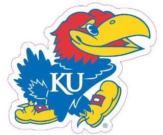 NCAA Kansas Jayhawks Team Auto Window Decal, 12 x 10  inch