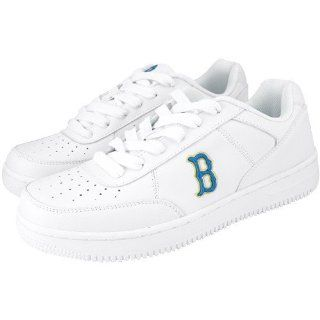 NCAA UCLA Bruins White Team Logo Leather Tennis Shoes Shoes