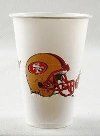 NFL San Francisco 49Ers Disposable Plastic Cups, Pack of