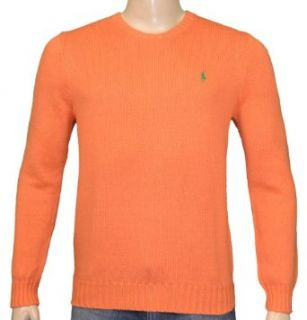 Polo Ralph Lauren Mens Cotton Sweater Orange 2XL
