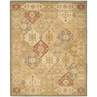 Handmade Antiquities Bakhtieri Multi/ Beige Wool Rug (11 x 17