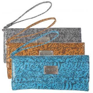 Kenneth Cole Reaction Womens Snake Print Clutch Wallet