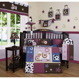 Western Cowgirl Horse 13 piece Crib Bedding Set