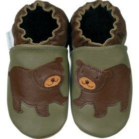 Robeez Bear Cub Olive Soft Sole Baby Shoes 12 18 months Shoes