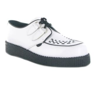 Underground Creepers Wulfrun White Leather Womens Shoes Shoes