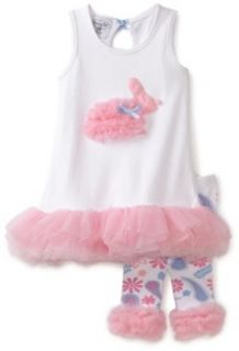 Mud Pie Baby girls Infant Bunny Tunic and Legging Set