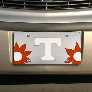 NCAA Tennessee Volunteers Silver Mirrored Flower Power