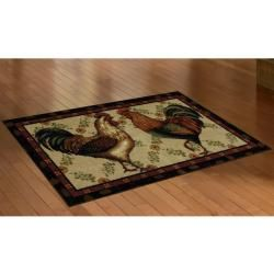 Mohawk Home Country Roosters Brown Kitchen Rug (19 x 210