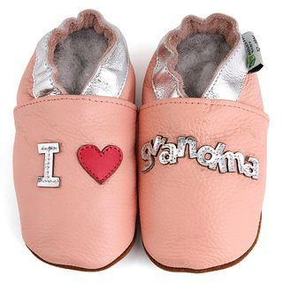 Love Grandma Soft Sole Leather Baby Shoes