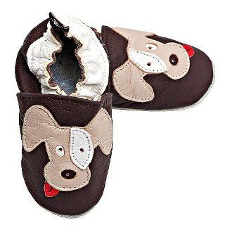 Tickle Baby Boys Brown Dog Soft Soled Shoes 0 6M Tommy Tickle Shoes