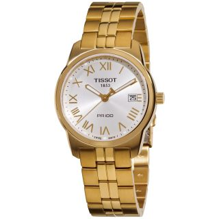 Tissot Mens PR 100 Yellow Gold PVD Stainless Steel Watch