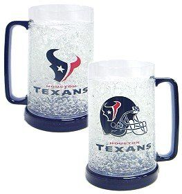 NFL Houston Texans Helmet 16 oz Crystal Freezer Mug