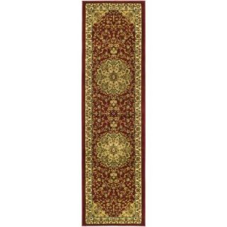 Lyndhurst Collection Red/ Ivory Runner (2 3 x 12)