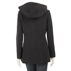 AK Anne Klein Womens Plus Size Short Wool Coat