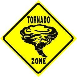 TORNADO ZONE xing sign * street weather storm Home