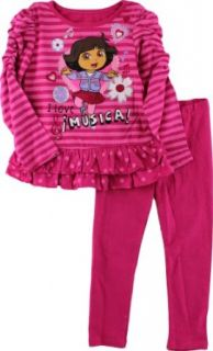 Dora The Explorer Girls 2 6X 2 Piece I Love Musica Legging