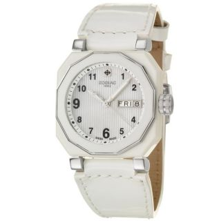 Zodiac Womens Icon Fashion Stainless Steel, Leather Quartz Watch