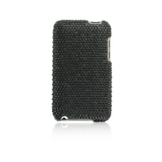 Apple iPod Touch Black Full Diamond Rhinestone Case