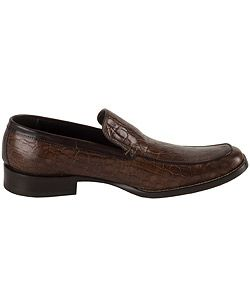 DSquared Mens Croc Stamped Leather Loafers