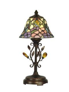 Dale Tiffany TA90215 Crystal Peony Accent Lamp, Antique Golden Sand