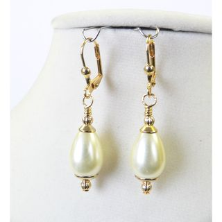 Palmtree Gems Louise Pearl Teardrop Earrings