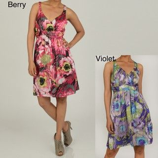 Jonathan Martin Womens Abstract Floral Dress
