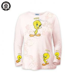 LOONEY TUNES Tweety Art Shirt Tweety 100% Angel Clothing