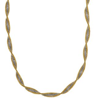 14k Two tone Gold Twisted Necklace