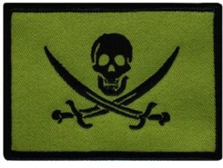Jolly Roger Calico Jack Rackham Flag Embroidered Patch