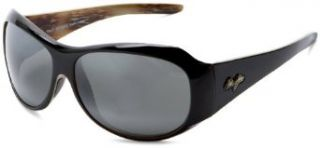 Maui Jim 203 02 Black Lehua Round Sunglasses Polarised