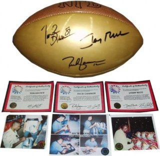 Rich Gannon, Jerry Rice and Tim Brown Triple Autographed