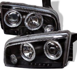2006 2007 2008 2009 2010 Dodge Charger Halo LED Projector Headlights