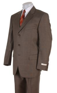 Joseph Abboud Mens Three button Olive Suit