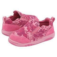 Stride Rite Riley Slip On (Infant/Toddler) Pink Camo Suede